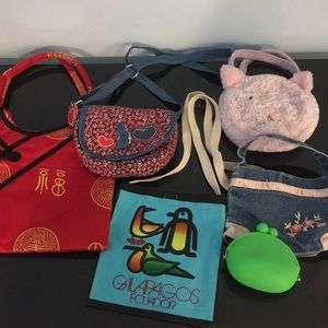 Set of 5 kid's purses and coin purse 👛